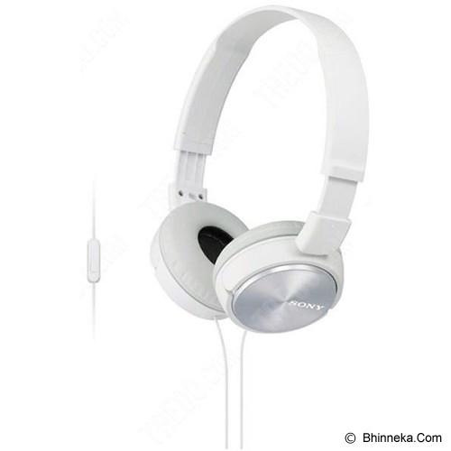 SONY Headphone [MDR ZX-310AP] - White - Headphone Portable